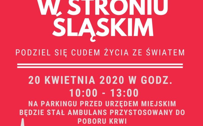 Zbiórka krwi w Stroniu Śląskim