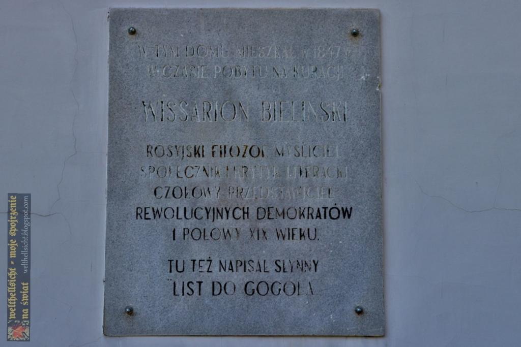 w Szczawnie-Zdroju. Tablica pamiątkowa